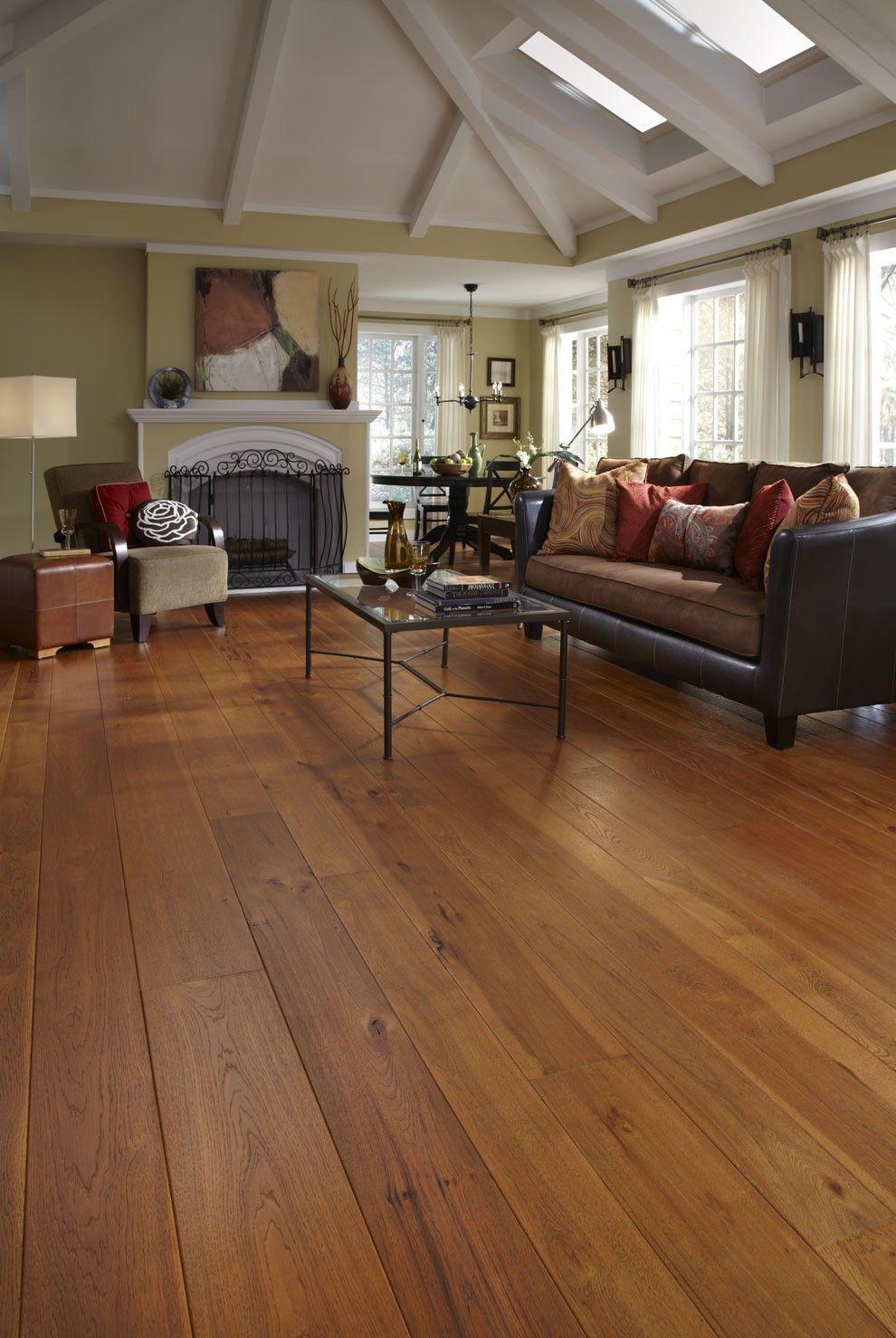 Wide Plank solid Hardwood Flooring Of Brushed Hickory Living Room Design Magic Pinterest Living In Brushed Hickory Living Room
