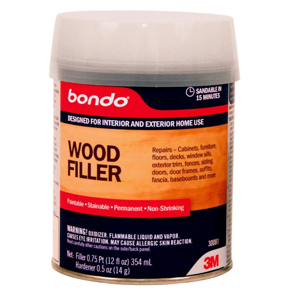 wood filler for prefinished hardwood floors of 3m bondo 12 fl oz wood filler 30081 the home depot for wood filler