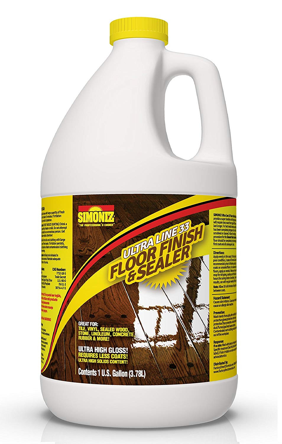 zep commercial hardwood laminate floor cleaner of amazon com ultra high gloss 33 solids floor finish wax 1 gallon intended for amazon com ultra high gloss 33 solids floor finish wax 1 gallon more durable less coats less labor health personal care